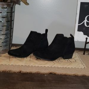 "Black Suede Boots by MASSINI ""Charlie II"" Size 7"